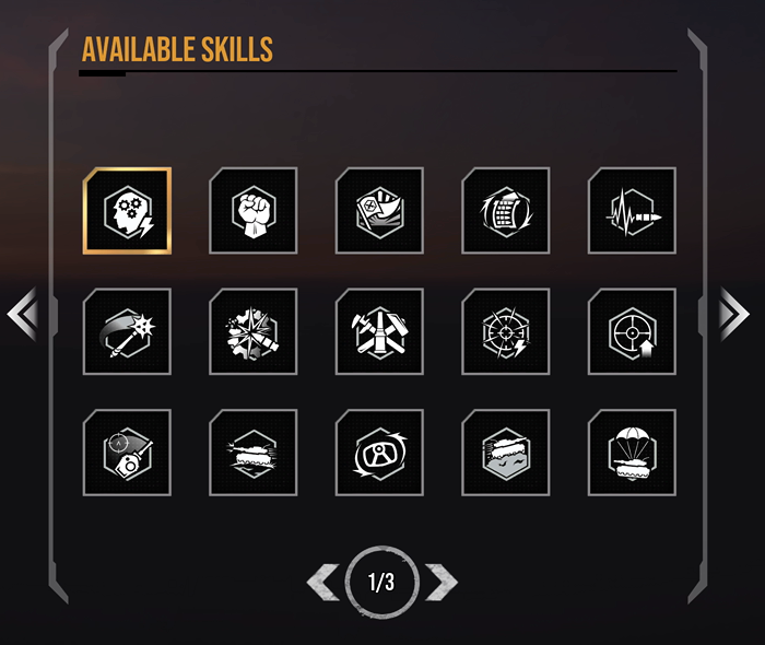 Available Skills – 1