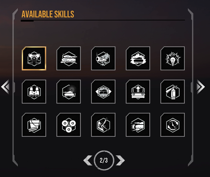 Available Skills – 2